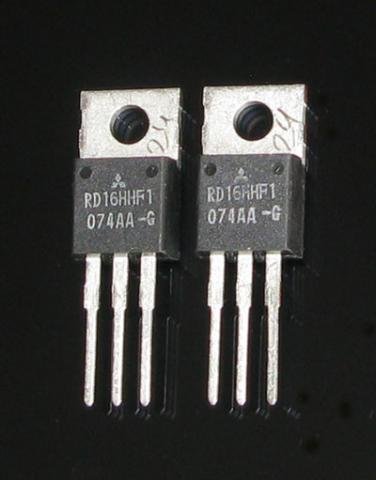 "A pair of matched RD16HHF1 ""Original"" Mitsubishi RF MOSFET Transistor"