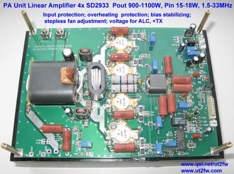 PA Unit 900-1000W PEP Linear Amplifier DN-600 4x SD2933 image 5