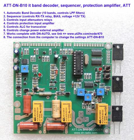 ATT-DN-B10 it band decoder, sequencer, protection amplifier, ATT. image 1