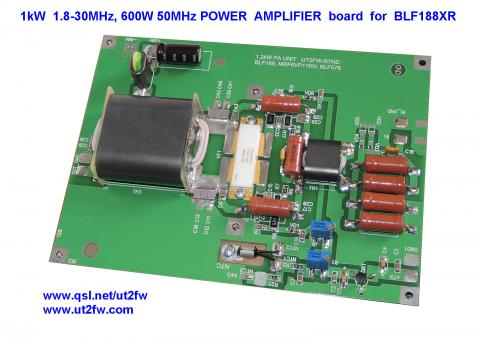 1kW 1.8-30MHz, 600W 50MHz HF POWER AMPLIFIER BOARD for LDMOS BLF188XR image 1