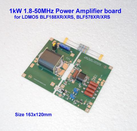 1kW 1.8-30MHz, 700W 50MHz HF POWER AMPLIFIER BOARD for LDMOS BLF188XR/XRS, BLF188 image 1