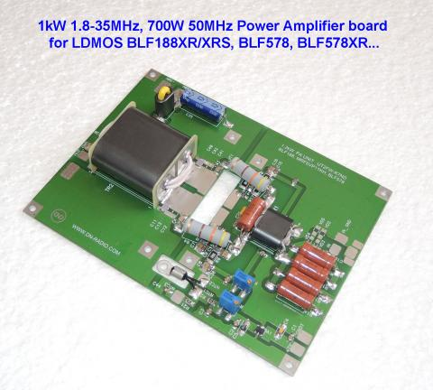1kW 1.8-30MHz, 700W 50MHz HF POWER AMPLIFIER BOARD for LDMOS BLF188XR/XRS image 1