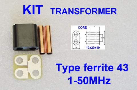 KIT RF Transformer ferrite 43 Amplifier 80W PEP image 1