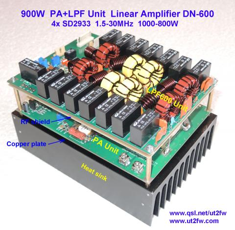 PA Unit 900-1000W PEP Linear Amplifier DN-600 4x SD2933 image 7